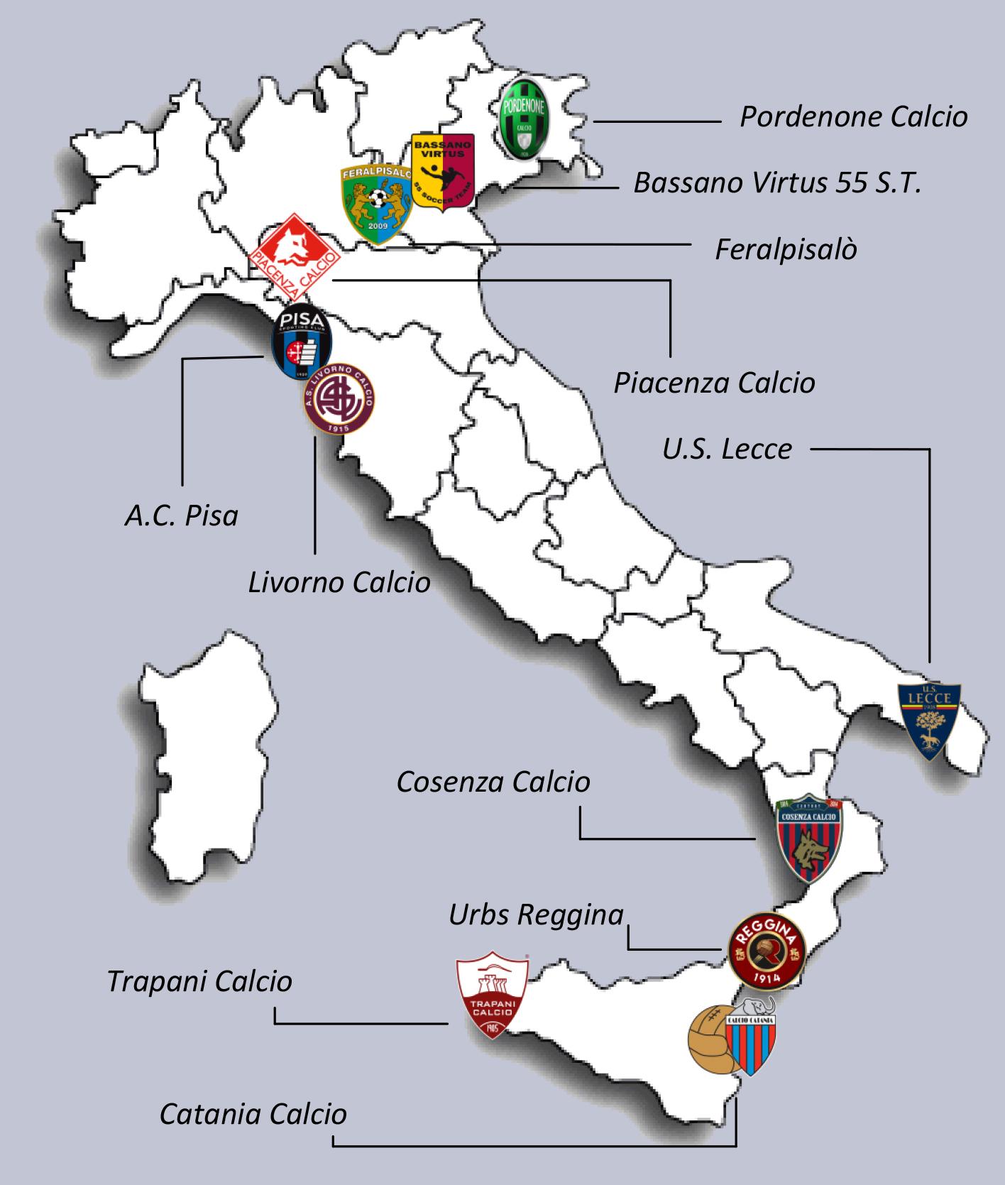 Cartina Società calcio